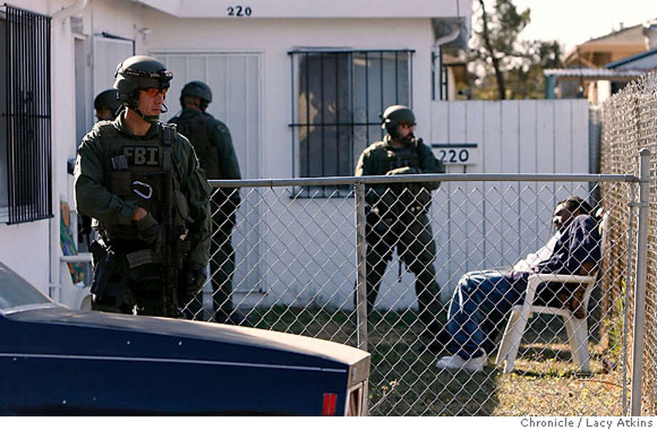 Contra Costa County Sheriffs and the FBI serviced sixteen search warrants and arrested approximately nine on state and federal warrants for drugs and gangs while conducted a raid in North Richmond, Ca., Wednesday Oct. 25, 2006. (Lacy Atkins/The Chronicle) Photo: Lacy Atkins