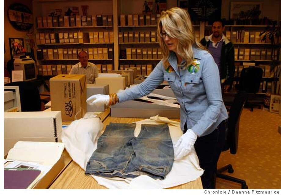 levisxx_0010_df.jpg  Lynn Downey is in charge of the archives at Levi Strauss.  in San Francisco on 6/29/06.  (Deanne Fitzmaurice/ The Chronicle)  **Lynn Downey Mandatory credit for photographer and San Francisco Chronicle. /Magazines out. Photo: Deanne Fitzmaurice