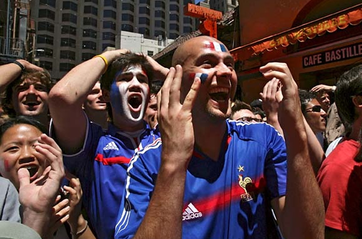 Belden Alley will have restaurants full of France fans watching the match Sunday. Cafe Bastille French Restaurant (22 Belden Place, San Francisco, California) will be open at 7:30 for the game. (Special to the Chronicle / Jakub Mosur)