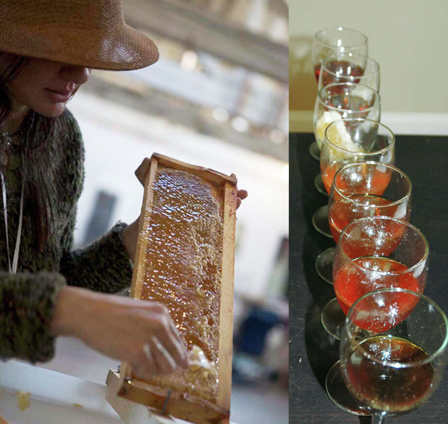 Marina Marchese works with some of her honey. Photo: Contributed Photo