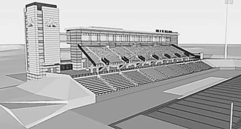 2011 University at Albany drawing of proposed athletic facility (Times Union archive)