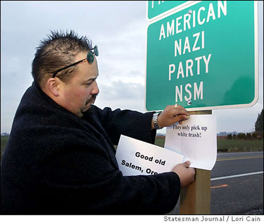 American Nazi Party – headquartered in Virginia, active in California – Founder George Rockwell was shot dead by another Nazi in 1967, eight years after founding the party. American Nazi's have found inspiration in him since.  Photo: LORI CAIN
