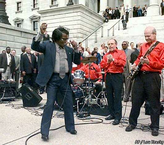 9. Columbia, S.C. James Brown felt good there in 2002. But he's not on our list of romantic singers. Photo: LOU KRASKY
