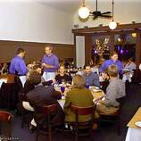 : The Cobalt Resturant, 1707 Powell St, which used to be the Washington Square Bar and Grill. Dick Fredulia on Pianio and Vince Gomez on bass play in the front dinning room during dinner hours. Chronicle photo by Frederic Larson
