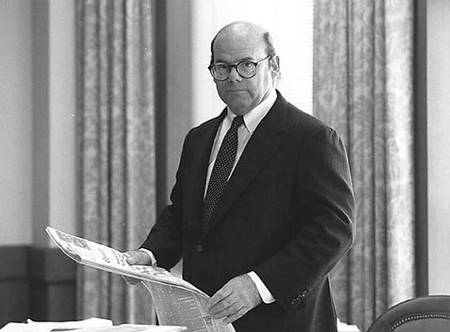 Chronicle People: Richard Tobin Thieriot, Publisher, 1977-1994. Chronicle File Photo