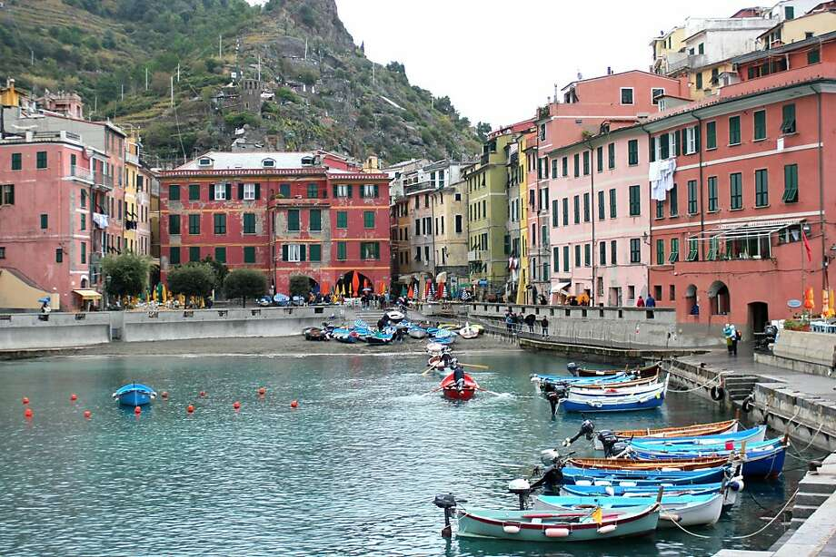 The placid harbor of Vernazza, Italy, is on the banks of the Mediterranean. Photo: Deanna Russell Woodruff, RickSteves.com