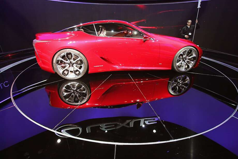 CHICAGO, IL - FEBRUARY 08:  Lexus displays the LF-LC concept car during the media preview of the Chicago Auto Show at McCormick Place on February 8, 2012 in Chicago, Illinois.  The show, which is the largest and oldest auto show in the country, opens to the public on February 10.  (Photo by Scott Olson/Getty Images) Photo: Scott Olson, Getty Images