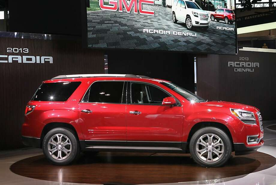 CHICAGO, IL - FEBRUARY 08:  GMC introduces the 2013 Acadia during the media preview of the Chicago Auto Show at McCormick Place on February 8, 2012 in Chicago, Illinois.  The show, which is the largest and oldest auto show in the country, opens to the public on February 10.  (Photo by Scott Olson/Getty Images) Photo: Scott Olson, Getty Images