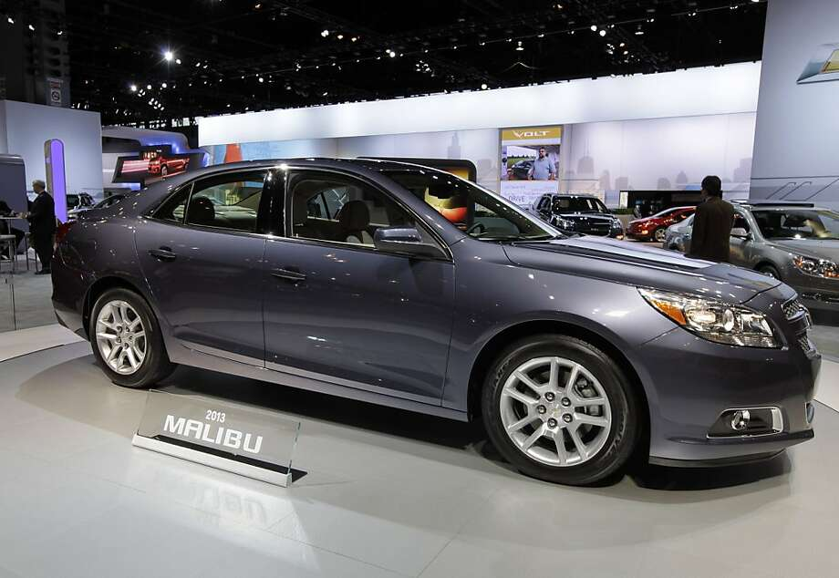 Chevrolet introduces an 2013 Malibu during the media preview of the Chicago Auto Show at McCormick Place in Chicago on Wednesday, Feb. 8, 2012. (AP photo/Nam Y. Huh) Photo: Nam Y. Huh, Associated Press