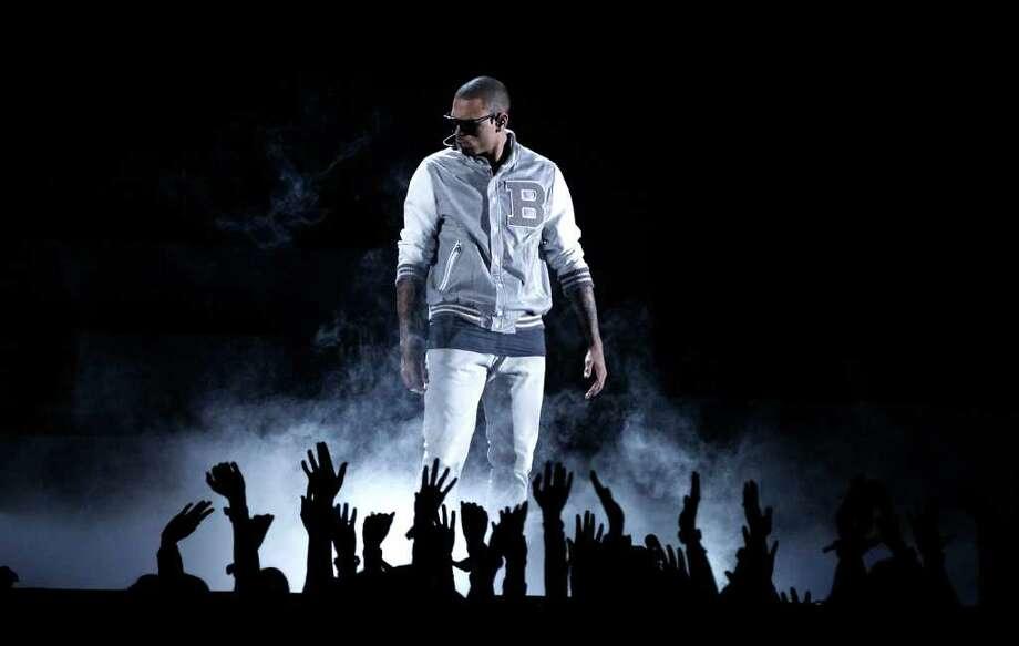 Chris Brown performs during the 54th annual Grammy Awards on Sunday, Feb. 12, 2012 in Los Angeles. (AP Photo/Matt Sayles) Photo: Matt Sayles