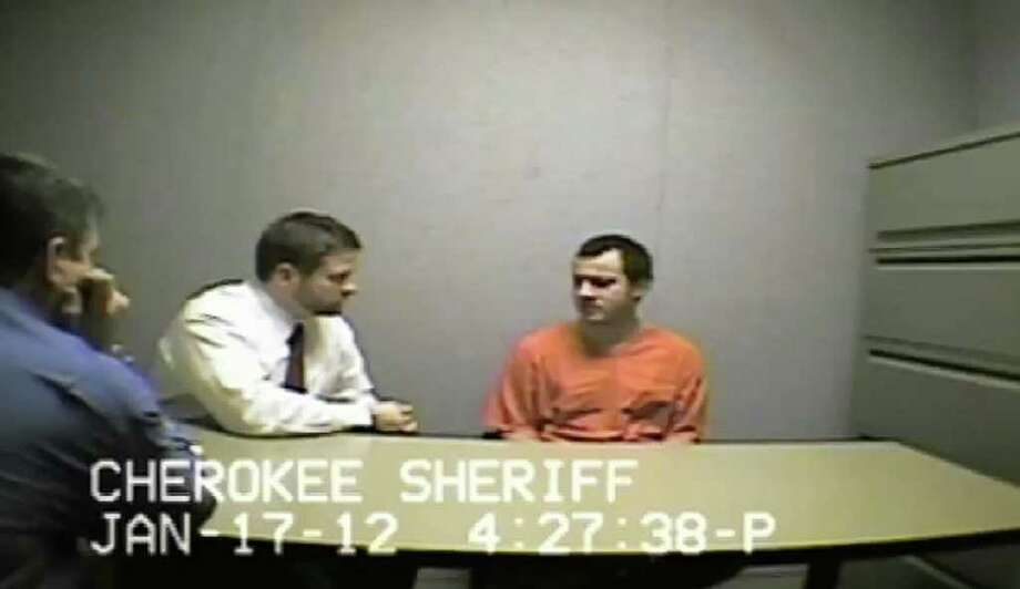 Child killer Ryan Brunn is interviewed by authorities Jan. 17 after his arrest. Two days later, Brunn hung himself in his cell. Photo: Associated Press, Cherokee (Ga.) Sheriff's Department