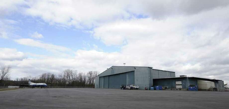 The Colgan Air hanger at the Albany International Airport in Colonie, N.Y. is slated for expansion Feb. 13, 2012.   ( Skip Dickstein/Times Union) Photo: Skip Dickstein