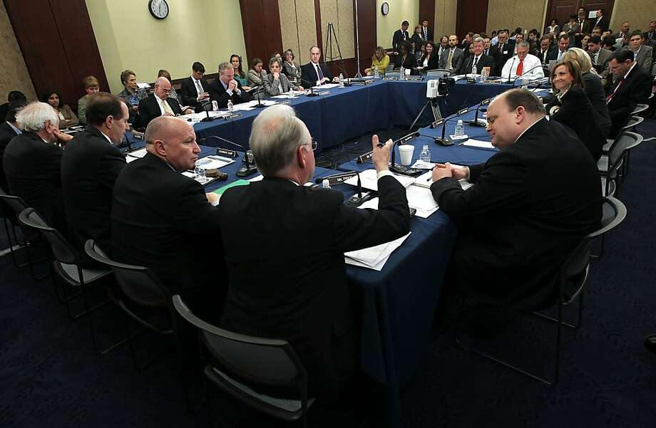 WASHINGTON, DC - FEBRUARY 07:  Members of the House-Senate Conference Committee on how to extend the payroll tax cut participate during a meeting February 7, 2012 on Capitol Hill in Washington, DC. Members of the committee met to discuss whether they could reach a deal to extend the payroll tax cut before it expires by the end of this month.  (Photo by Alex Wong/Getty Images) Photo: Alex Wong, Getty Images