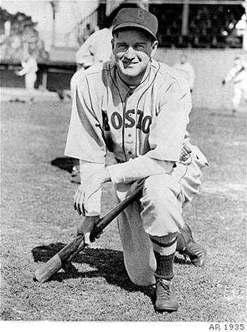 Manager Joe Cronin of the Boston Red Sox, at the Sarasota, Florida training camp, March 4, 1935, where he is getting his team into shape for the coming season. (AP Photo)