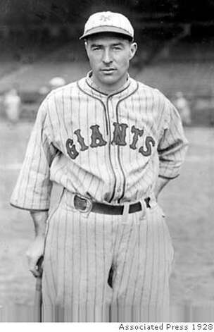 Lefty O'Doul, new outfielder for the New York Giants, poses on May 24, 1928. (AP Photo) Ran on: 10-04-2004  Lefty O'Doul succeeded as a big-league player, then succeeded as a Pacific Coast League manager and San Francisco restaurateur. Ran on: 10-04-2004 Photo: Associated Press 1928