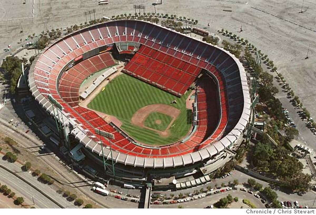 CANDLESTICKPARK/C/07SEP95/CD/CS - Aerial of Candlestick Park, also known as 3COM Park, in San Francisco. Photo by Chris Stewart. football configuration Ran on: 05-29-2005 Ran on: 05-29-2005 Ran on: 05-29-2005