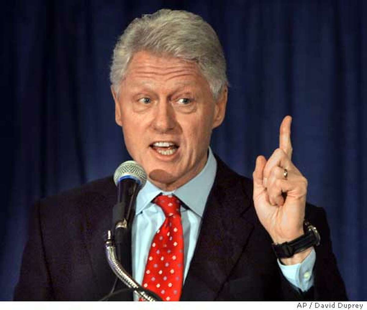 Former President Bill Clinton speaks to Erie County Democrats in Buffalo, N.Y., Wednesday, Dec. 14, 2005. Clinton is planning to attend a Buffalo Sabres hockey game with Sabres owner B. Thomas Golisano after the meeting with Democrats. (AP Photo/David Duprey) Ran on: 12-25-2005 Ronald Reagan and Bill Clinton both had an alcoholic parent, which William H. Chafe says can explain their personality traits. Ran on: 07-16-2006 When Paul Tagliabue was elected NFL commissioner in 1989, it took nearly four months after what was supposed to be the final selection meeting. He was picked over Jim Finks, then the Saints GM. Ran on: 08-02-2006 Jim Rogan