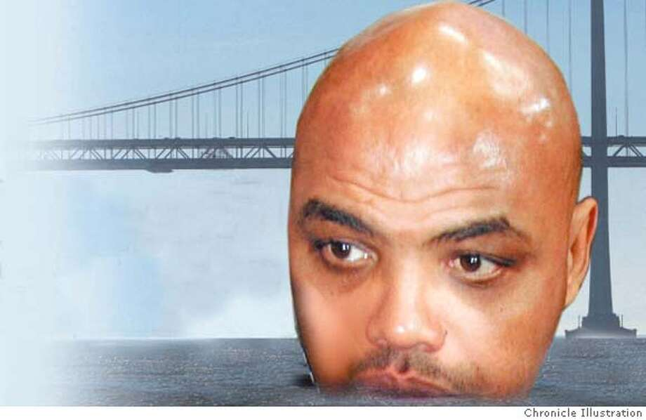 "Charles Barkley: ""I would rather stay on Alcatraz than San Francisco or Oakland.'' Chronicle Illustration"