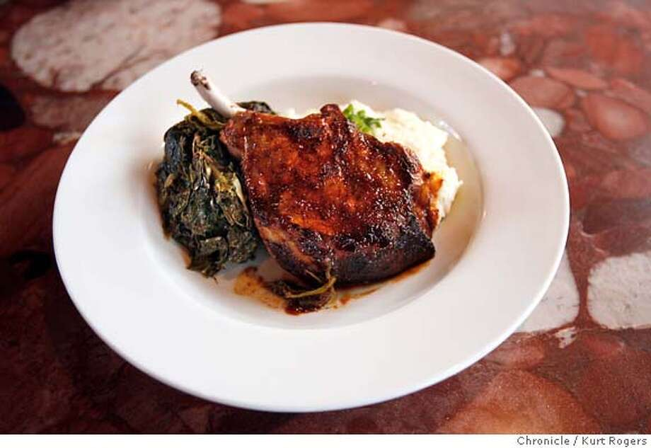 Pork Chop.  T-Rex is brought to you by the same people who also own Lalimes, Fonda and Sea Salt. It's a 220 seat barbecue restaurant with style  Kurt Rogers BERKELEY SFC  The Chronicle Photo: Kurt Rogers