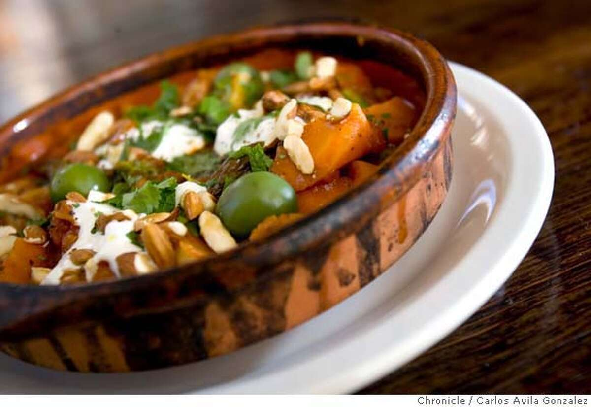 D.25NOPA_002_CAG.JPG The vegetable tagine served at Nopa. Nopa is the hot new restaurant North of the Pan Handle. It's been open less than two months but is already packed. For food: vegetable flatbread pork chop ricotta with walnut toasts Photo by Carlos Avila Gonzalez/The San Francisco Chronicle Photo taken on 6/1/06, in San Francisco, CA, USA MANDATORY CREDIT FOR PHOTOG AND SAN FRANCISCO CHRONICLE/ -MAGS OUT