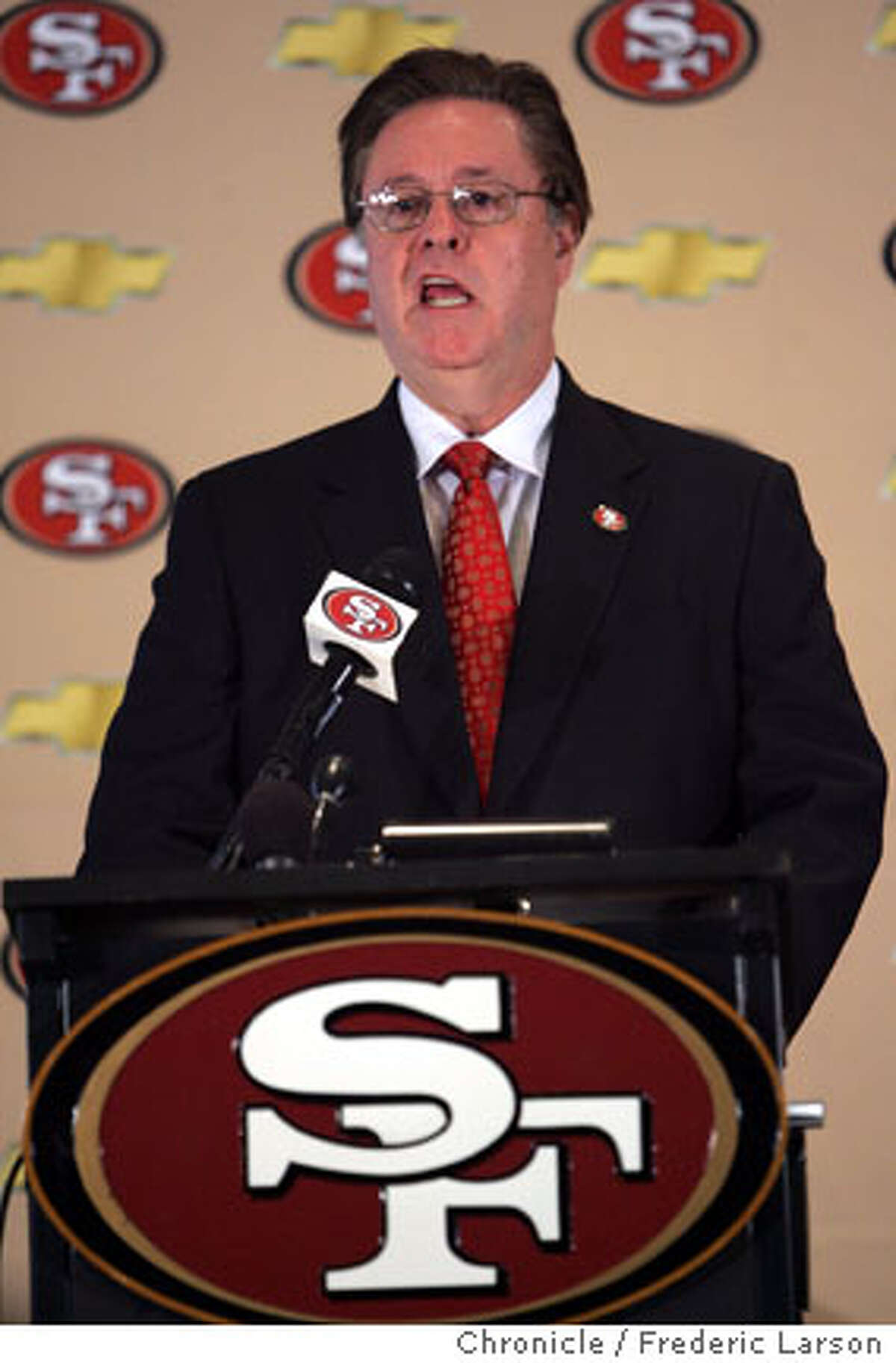 Owner of the 49ers John York stated at a press conference in Santa Clara that The San Francisco 49ers will abandon their namesake city and look to build a stadium in Santa Clara, after concluding that their plan to build a stadium and retail-housing complex at Candlestick Point will not work. The 49ers said Candlestick Point, where the team has played since 1971, cannot support a