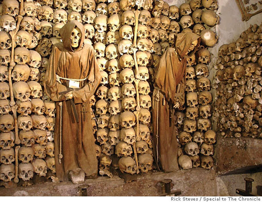 TRAVEL RICK STEVES -- At Rome's Cappuccin Crypt, interior decorating takes on a new meaning. Photo: Rick Steves