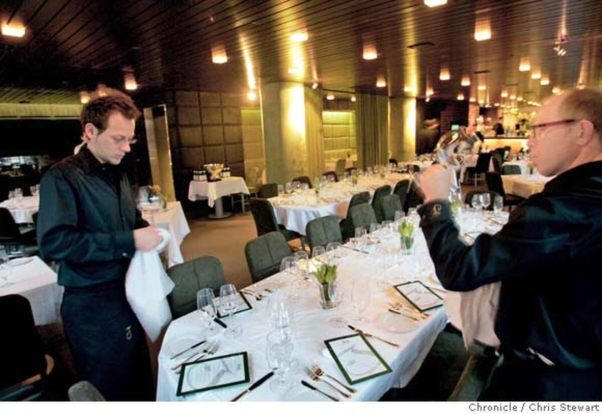 Event on 2/8/05 in San Francisco. Jack Falstaff, 598 2nd Street (at Brannan), SF, is the new hangout of SF Mayor Gavin Newsom and many other politicos. It was designed by Stanley Gatti. Chris Stewart / The Chronicle,