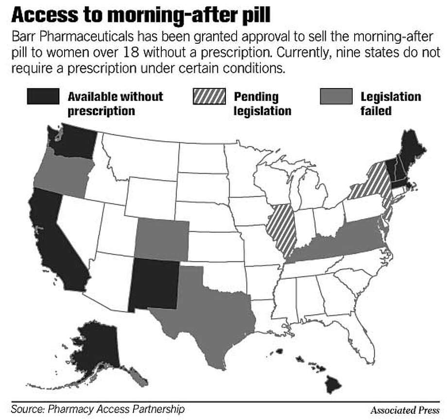 Access to Morning-After Pill. Associated Press Graphic
