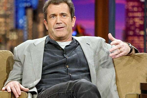 """Mel Gibson, director, co-writer and producer of the new movie """"The Passion of the Christ,"""" appears on the Tonight Show with Jay Leno Thursday, Feb. 26, 2004, in Burbank, Calif. The film opened last Wednesday. (AP Photo/Ric Francis) Mel Gibson: envisioning Jesus as Norwegian? Ran on: 11-07-2004"""