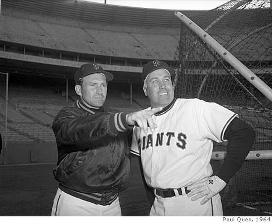 DARK-04MAY1964-QUEN - San Francisco Giants Manager Alvin Dark, with Duke Snider. Photo by Paul Quen Photo: Paul Quen