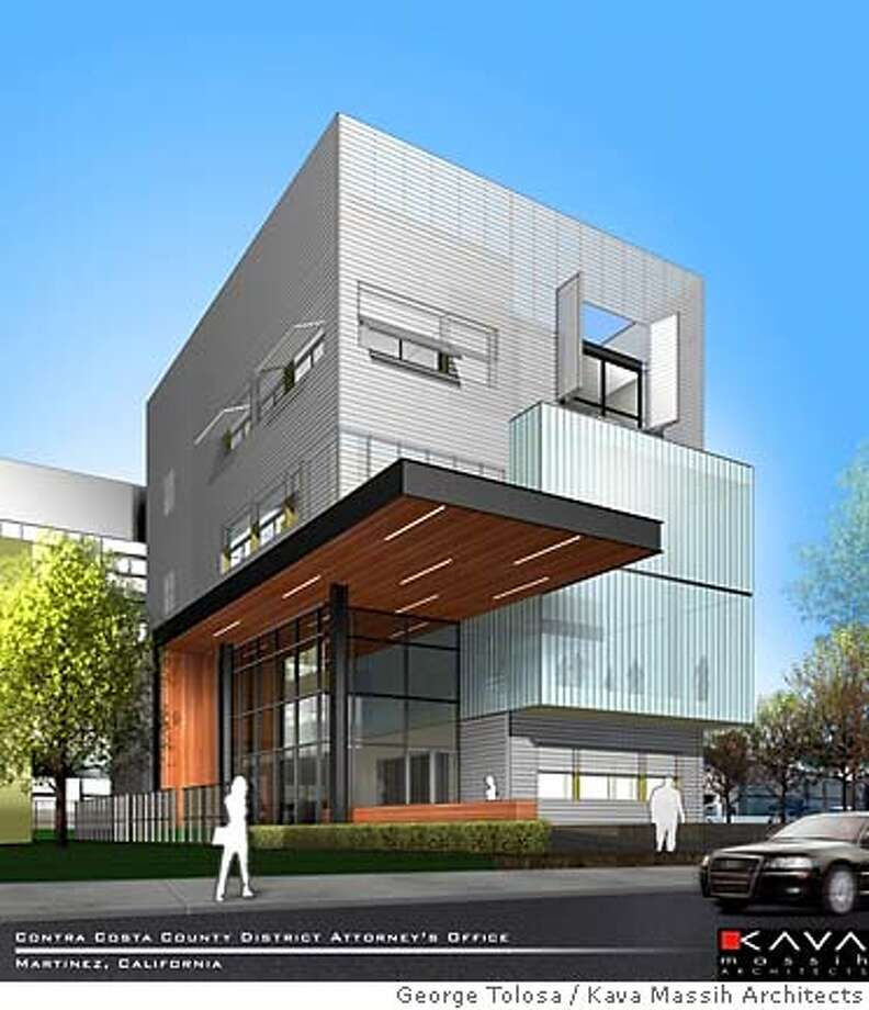 The new proposed Contra County district Attorney's office building in Martinez. P a t r i c i a C h a n g/Kava Massih Architects Photo: George Tolosa
