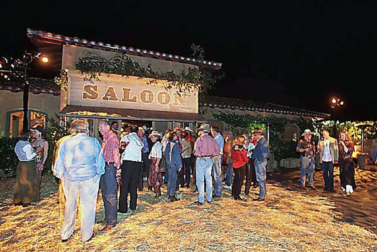 The saloon at the Shansby Cowboy party.