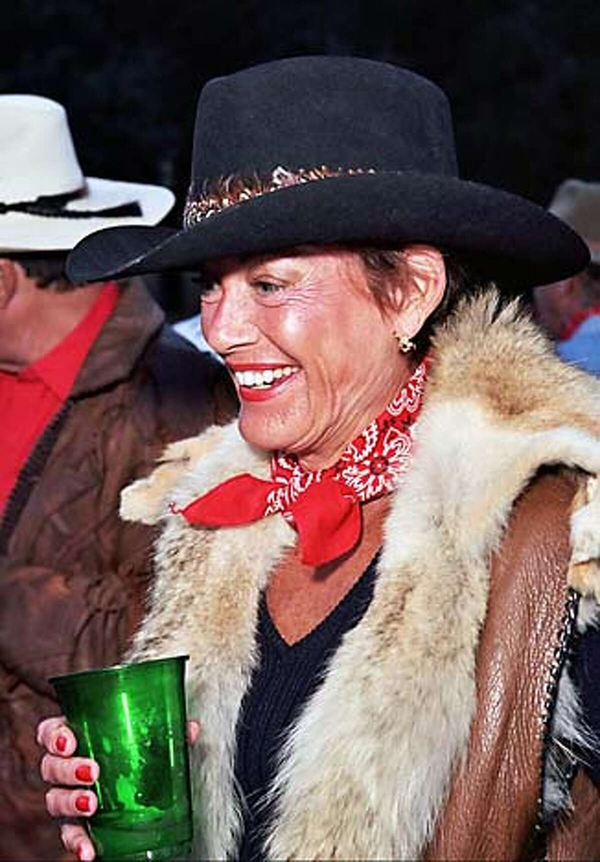 Anne Walther at the Shansby Cowboy party.