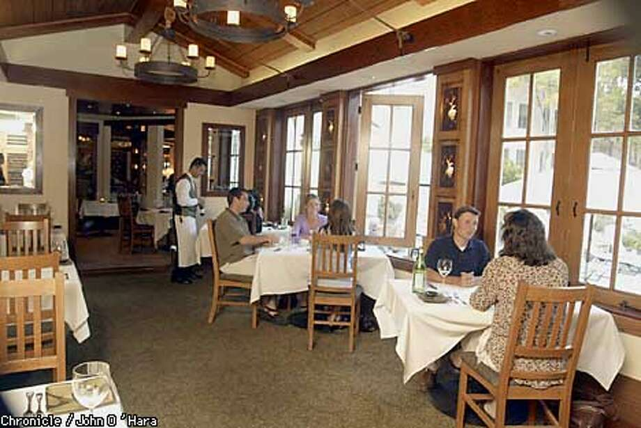 Sante in the Sonoma Mission Inn offers three menus in a setting that is rustic with hints of luxury. Chronicle photo by John O'Hara