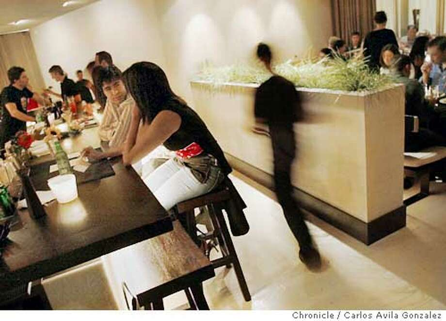 The dining room and bar of Bambuddha Restaurant in San Francisco, Ca. Event on 10/02/03 in San Francisco, CA. Photo By Carlos Avila Gonzalez / The San Francisco Chronicle Photo: Carlos Avila Gonzalez