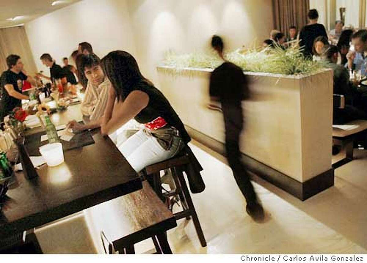 The dining room and bar of Bambuddha Restaurant in San Francisco, Ca. Event on 10/02/03 in San Francisco, CA. Photo By Carlos Avila Gonzalez / The San Francisco Chronicle