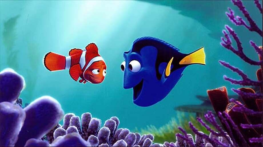 Finding Nemo-Marlin (left) and Dory.
