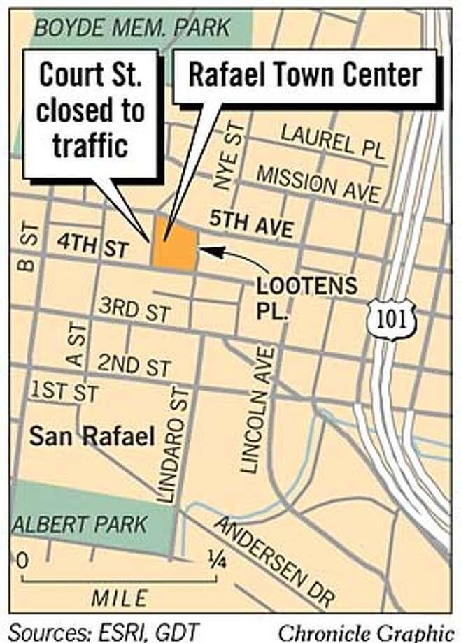 Rafael Town Center. Chronicle Graphic