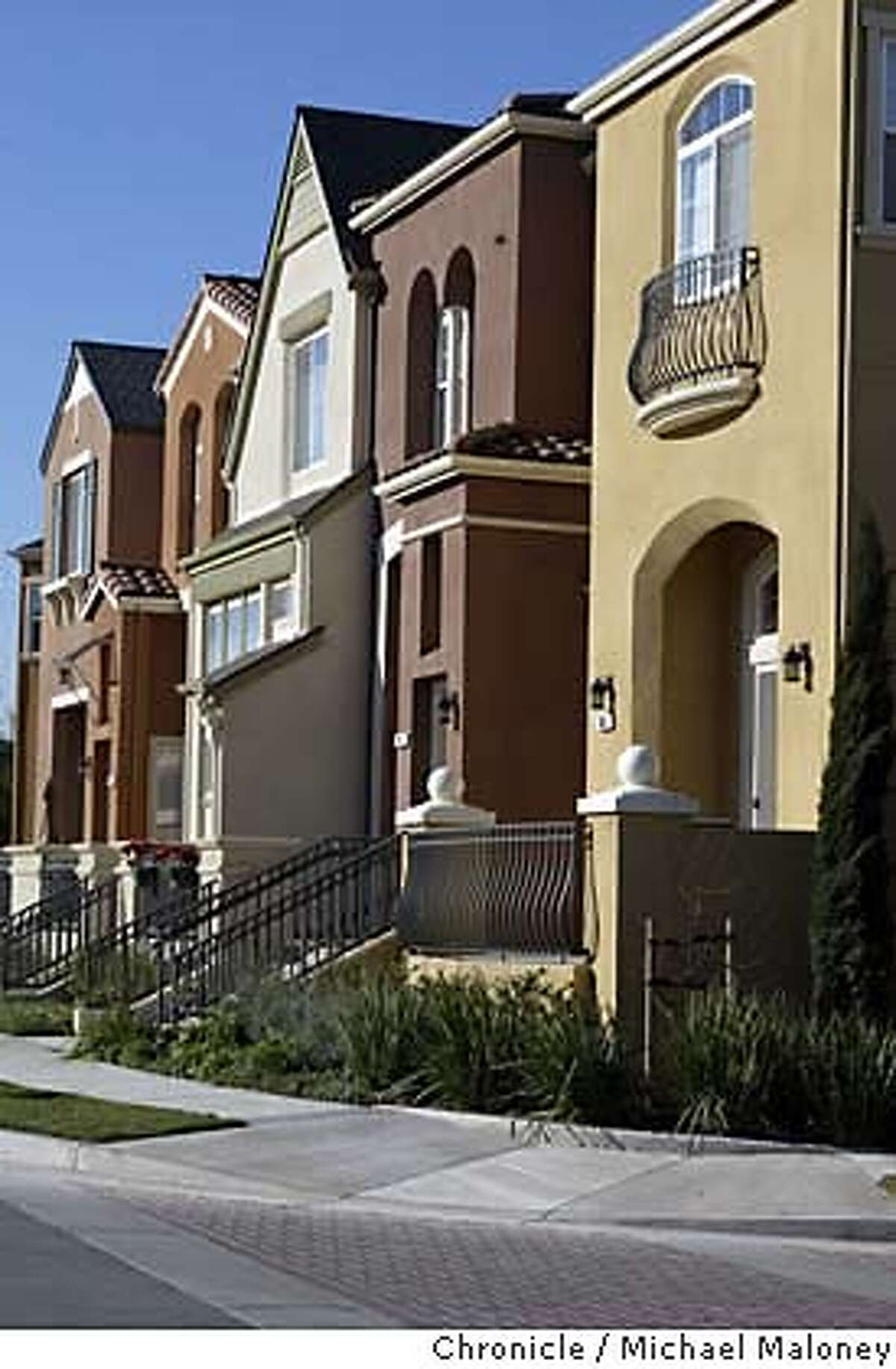 Rivermark is a new suburban project in Santa Clara near Montague Expressway. It consists of new colorfull tightly packed two story homes located near an equally new retail center. Michael Maloney / The Chronicle