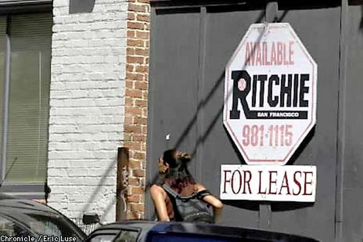 Numerous For Lease signs dot the buildings in the South Park neighborhood of San Francisco. BY ERIC LUSE/THE CHRONICLE
