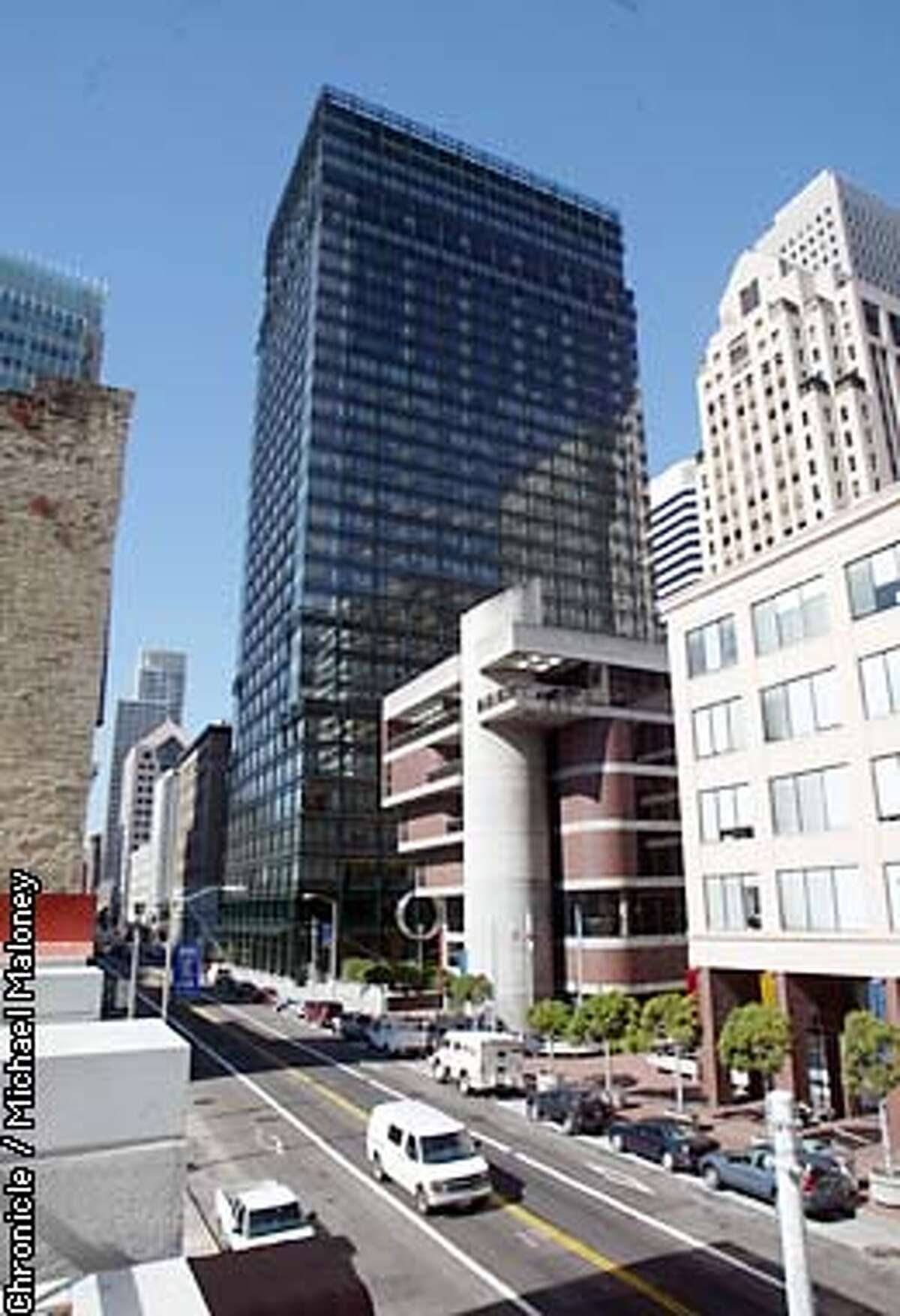 New highrise in SF designed by architect Cesar Pelli at 560 Mission St in SF. CHRONICLE PHOTO BY MICHAEL MALONEY
