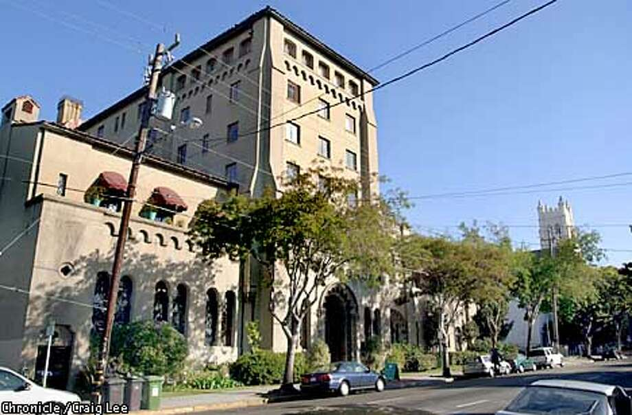 Photo of the City Club of Berkeley designed by Julia Morgan. Story about a proposed Berkeley height ordinance where this classic building is more than twice the height of what would be allowed under the measure's proposed restrictions. The tower in the distance to the right, is part of the Trinity United Methodist Church just down the block.  Photo by Craig Lee/San Francisco Chronicle Photo: CRAIG LEE