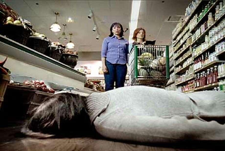 One of Goodby and Silverstein's anti-cancer ads features two women encountering a corpse in the aisle of a grocery store