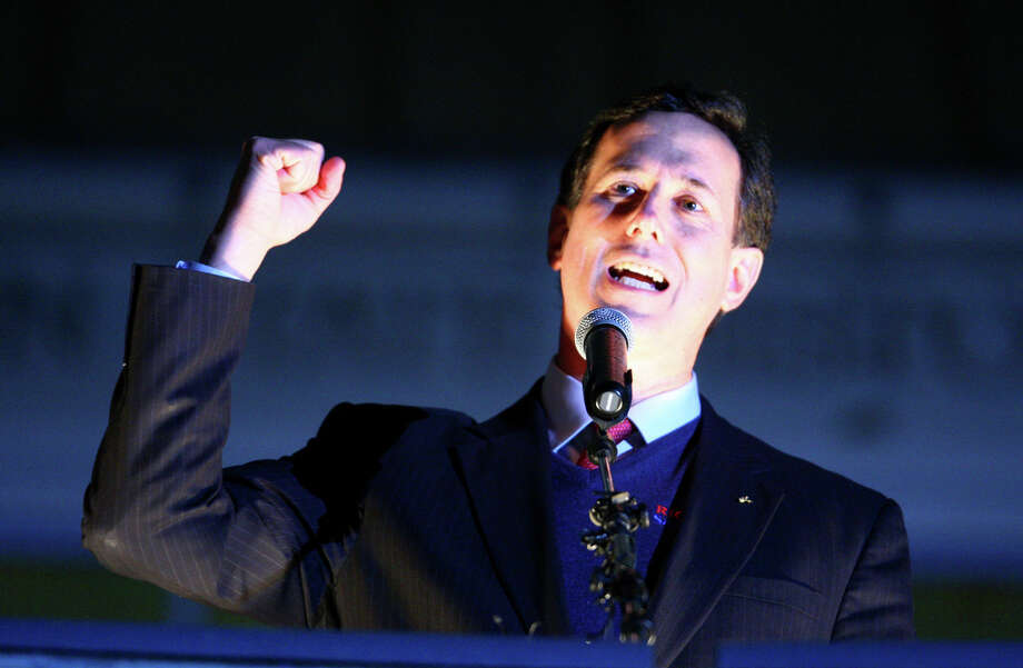 "Republican Presidential candidate Rick Santorum, who has fought for years against a raunchy definition of ""santorum"" on the Google search engine.  Photo: JOSHUA TRUJILLO / SEATTLEPI.COM"