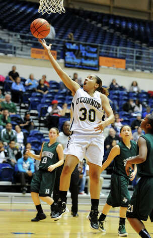 O'Connor's Ebony Easter (30) takes a shot during a UIL 5A girls bidistrict playoff  basketball game between Southwest and O'Connor at the UTSA Convocation Center in San Antonio on Monday, Feb. 13, 2012. Photo: JOHN ALBRIGHT, For The Express-News / Special to the Express-News