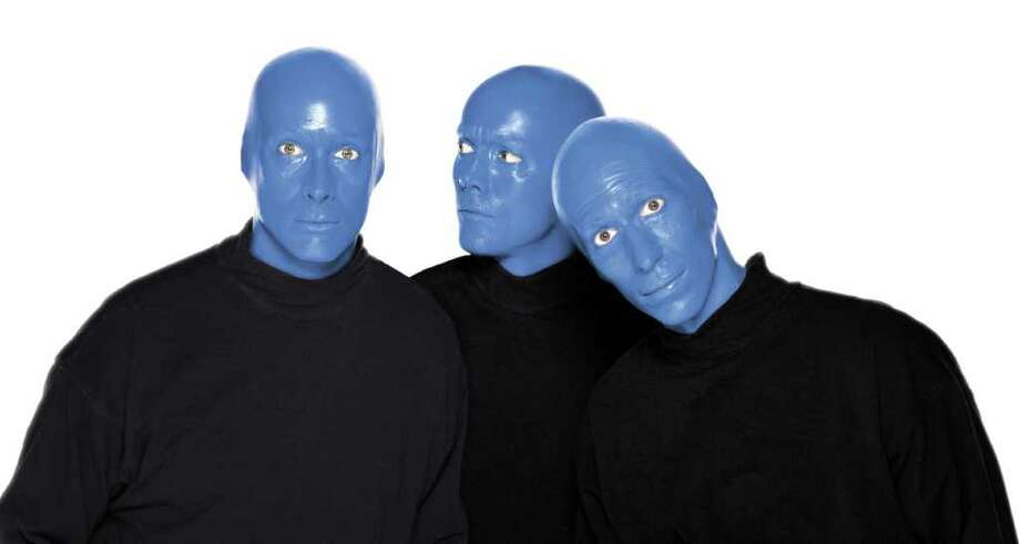 Blue Man Group is bringing its theatrical show to the Majestic Theatre. Courtesy of Blue Man Group