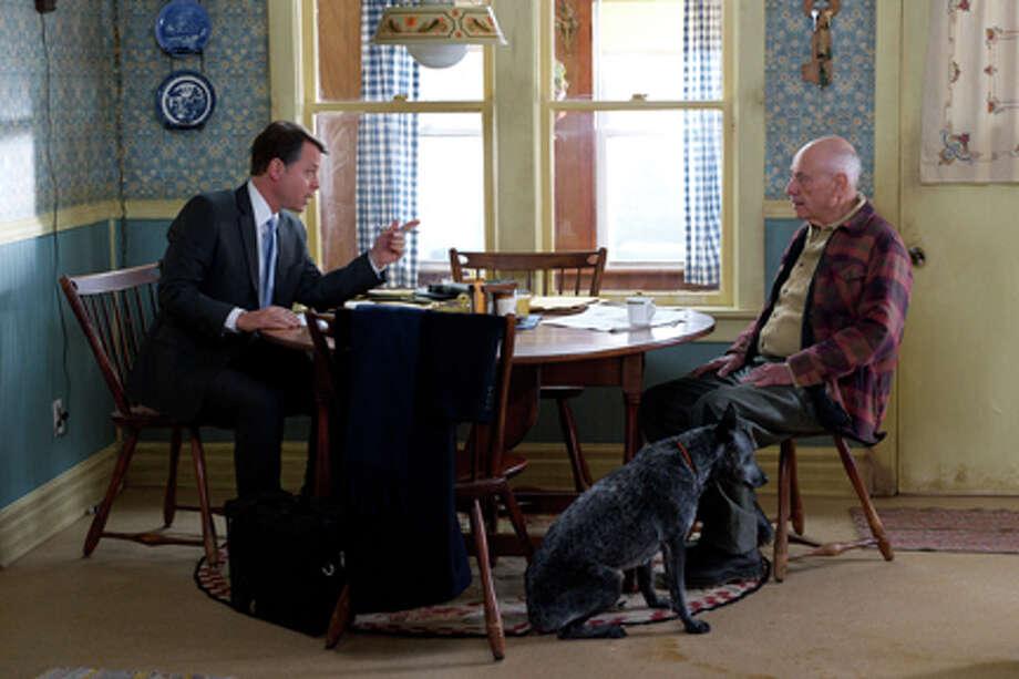 "(L-R) Greg Kinnear as Mickey Prohaska  and Alan Arkin as Gorvy Hauer in ""Thin Ice."" Photo: Ten Dollar Trophy"