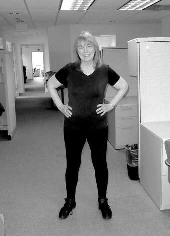 "Anne, after ""boot camp,"" is a lean, mean fighting machine - and a size smaller. Photo: Contributed Photo"
