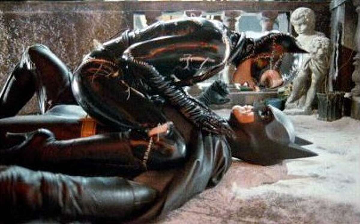 """""""Batman Returns"""" (1992) Most may only really recall Michelle Pfeiffer's memorable performance as Catwoman in this film, Christmas does play a part in scenes throughout the movie. There's the (interrupted) Christmas tree lighting ceremony, a penguin army and Christmas-themed weaponry."""