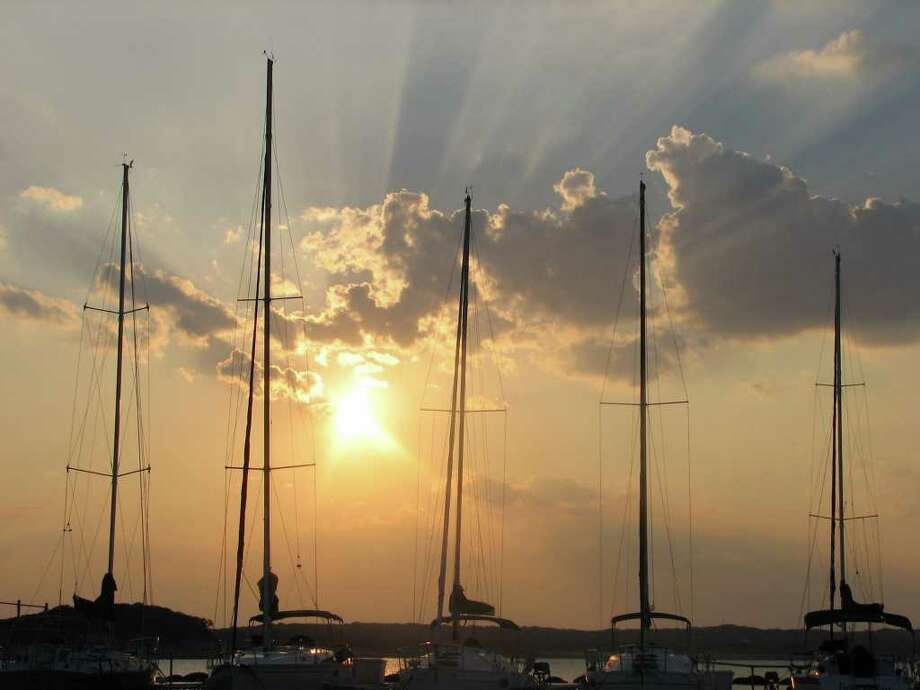 The sun sets over Canyon Lake. (Canyon Lake Chamber of Commerce) Photo: Texas Hill Country
